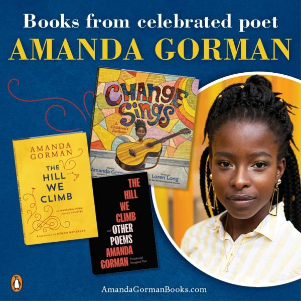 Books by National Youth Poet Laureate Amanda Gorman