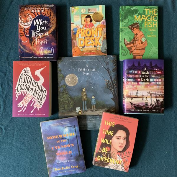 Image: Books by Asian American and Pacific Islander authors