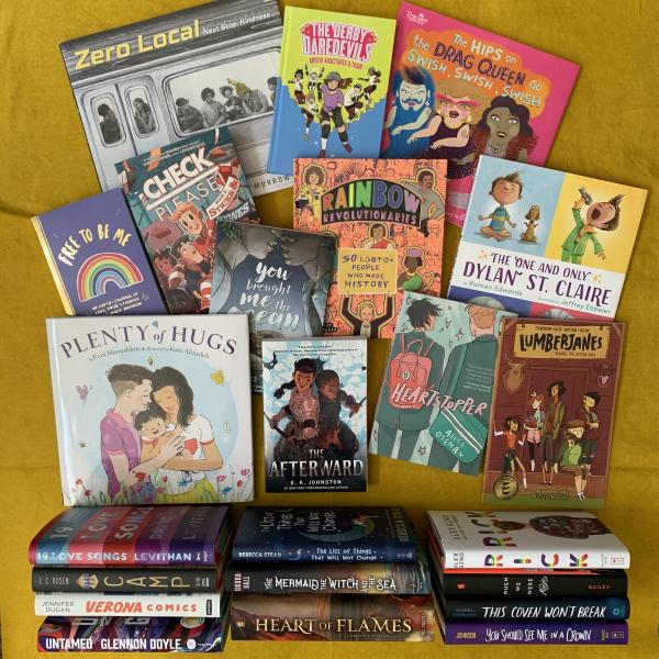Photo: A Variety of Books to Celebrate Pride