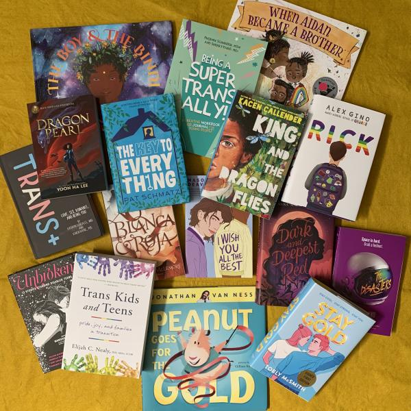 Photo: A Variety of Books by Transgender and Non-Binary Authors